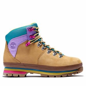 Women's Euro Hiker Mixed-Media Waterproof Boots Amarillo