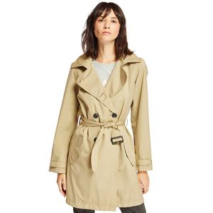 Women's Classic Waterproof Trench Coat Café Claro