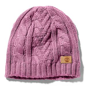 Women's Cable-Knit Winter Beanie Rosa Claro