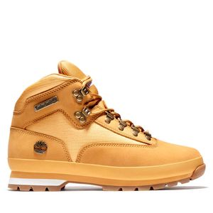 Men's Euro Hiker Leather and Fabric Mid Boots Amarillo