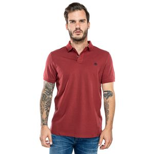 Men's Millers River Pique Polo Shirt Rojo obscuro
