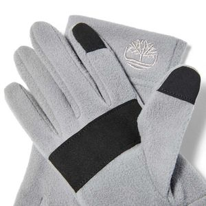Women's Fleece Gloves with Touch Tips Gris claro