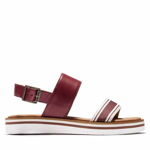 Women's Adley Shore Ankle Strap Sandals Rojo obscuro