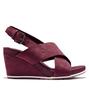 Women's Capri Sunset X-Band Wedge Sandals Rojo obscuro