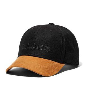 Men's Vintage-Style Wool-Blend Baseball Cap Negro