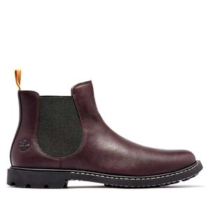 Men's Belanger EK+ Leather Chelsea Boots Rojo obscuro