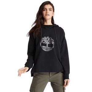 Women's Timberland Logo Recycled Terry Sweatshirt Negro