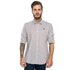 Men's Suncook River Long-Sleeve Poplin Stripe Shirt Rojo