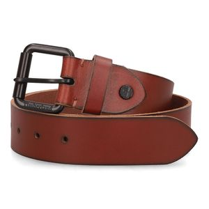 Cinturón con Hebilla de Rodillo Café obscuro