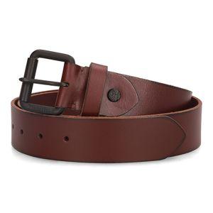 Cinturón con Hebilla de Rodillo Rojo obscuro