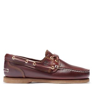 Timberland Zapatos Náuticos clásicos de piel con 2 ojales para Mujer Café obscuro