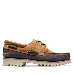 BAPE x Timberland - Zapatos clásicos cosidos a mano Three-Eye para hombre