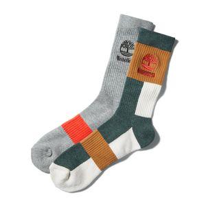 Timberland Paquete de 2 calcetines de bloques de color para hombre
