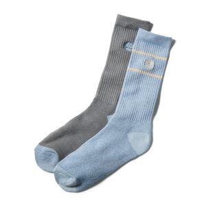 Timberland Paquete de 2 pares de calcetines para botas de doble raya para hombre